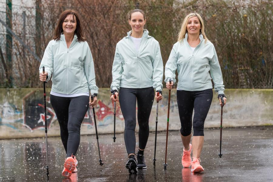 Nordic Walking Trainingsgruppe Lauftraining