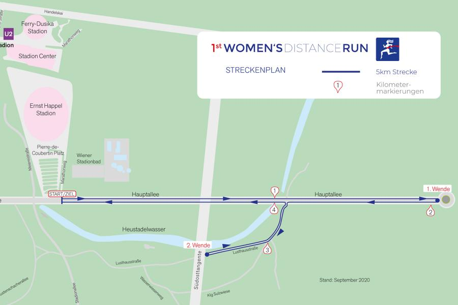 Streckenplan 1st Women's Distance Run