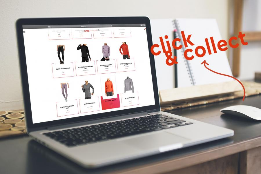 click & collect wmns running store